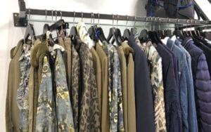 Autumn blue and green colours at Wardrobe in Dunmow